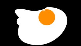 O ovo fritado imagem de stock royalty free