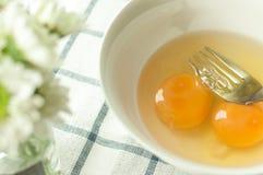 O ovo prepara-se cozinhando Imagem de Stock
