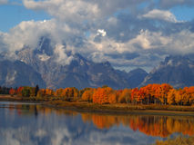 O Oxbow no Tetons Foto de Stock Royalty Free