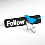 O pássaro azul adiciona o ícone Imagens de Stock Royalty Free