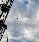 O pássaro e Ferris Wheel vazio fotografia de stock royalty free