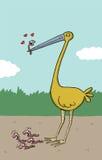 O pássaro grande guarda um sem-fim nele é bico Fotos de Stock
