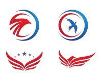 O pássaro voa o logotipo Fotografia de Stock