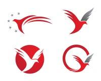 O pássaro voa o logotipo Imagens de Stock