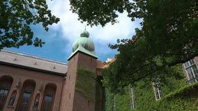 O pátio da câmara municipal de Éstocolmo, Suécia vídeos de arquivo