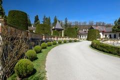 O pátio do palácio Hermesvilla Viena, Áustria Fotos de Stock