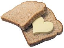 O pão ama a manteiga Fotografia de Stock Royalty Free