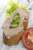 O pão com propagação e decora Imagens de Stock Royalty Free