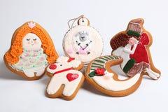 O pão-de-espécie do Natal endurece pelos carneiros do ano Fotos de Stock Royalty Free