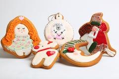 O pão-de-espécie do Natal endurece pelos carneiros do ano Fotografia de Stock Royalty Free