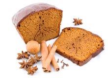 O pão-de-espécie, mel-endurece com especiarias imagens de stock royalty free