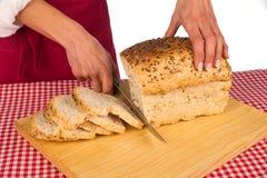 Pão inteiro do sanduíche fotografia de stock