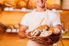 O pão o mais fresco para você Imagens de Stock