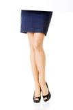 O pé da mulher. Mulher de negócio. Imagem de Stock