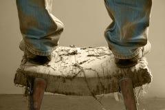 O pé de uma cadeira pequena Fotos de Stock Royalty Free