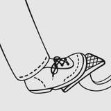 O pé no pedal de gás ilustração do vetor