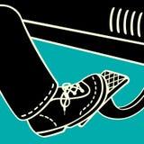 O pé no pedal de gás ilustração royalty free
