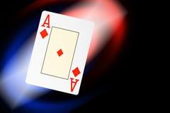 O póquer abstrato carda o fundo Imagens de Stock Royalty Free