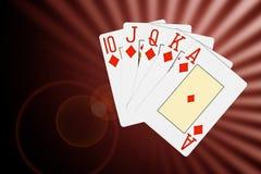O póquer abstrato carda o fundo Foto de Stock