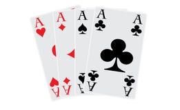 O póquer aces todos os quatro Imagem de Stock