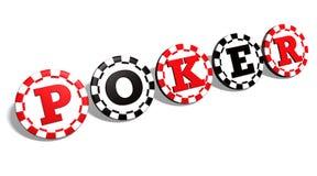 O póquer lasca o sinal Imagens de Stock Royalty Free