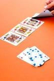 O póquer Texas prende-os Imagens de Stock Royalty Free