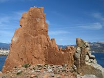 O pórfiro vermelho balanç, Arbatax, Sardinia, Italy Imagens de Stock Royalty Free