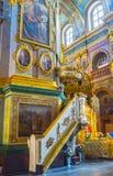 O púlpito da catedral de Dormition Fotos de Stock Royalty Free