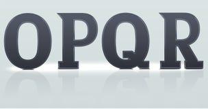 O P Q R plastic letters. Set 3: alphabet continuation , O P Q R plastic letters Stock Image
