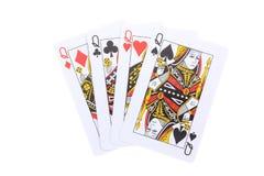 O pôquer carda o Queens Imagens de Stock