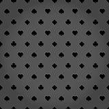 O pôquer sere o fundo cinzento metálico Foto de Stock