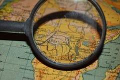 O país e a lente de aumento de Congo Imagem de Stock Royalty Free