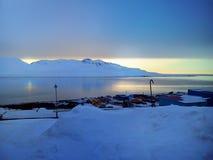 O pagamento do russo de Barentsburg O arquipélago de Spitsbergen noruega Imagens de Stock Royalty Free