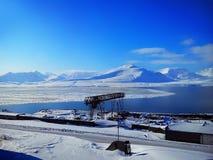 O pagamento do russo de Barentsburg O arquipélago de Spitsbergen noruega Imagem de Stock Royalty Free