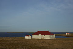O pagamento na ilha mais desolada - Falkland Islands Imagens de Stock