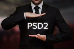 O pagamento presta serviços de manutenção à diretriz orientadora 2 PSD2 foto de stock royalty free