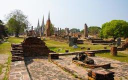 O pagode antigo Ayutthaya dos palácios, Tailândia Imagens de Stock Royalty Free