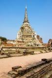 O pagode antigo Ayutthaya Tailândia dos palácios Fotos de Stock Royalty Free