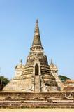 O pagode antigo dos palácios em Ayutthaya, Tailândia Fotos de Stock