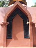 O pagode da porta o formulário da arquitetura de Tailândia é caracterizado fotografia de stock