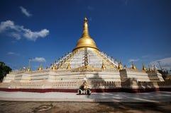 O pagode de Mahazedi, o Mahazedi significa o grande pa de Stu É um dos pagodes honrados nos vagabundos vai imagem de stock