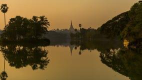 O pagode de Shwedagon Fotografia de Stock