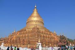 O pagode 2 de Shwezigon fotografia de stock