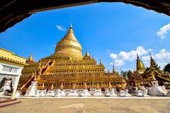 O pagode de Shwezigon ou o Shwezigon Paya Fotos de Stock