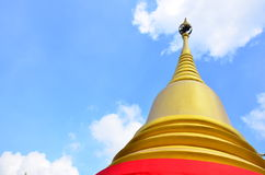 O pagode do ouro Fotos de Stock Royalty Free