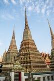 O pagode está em Wat Pho que foi nomeado como o templo do pagode Foto de Stock Royalty Free