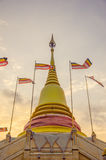 O pagode na noite Foto de Stock Royalty Free