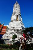 O pagode no templo tailandês fotos de stock royalty free