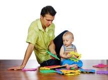 O pai e seu filho Fotografia de Stock Royalty Free