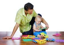 O pai e seu filho Foto de Stock